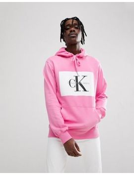 calvin-klein-jeans-hoodie-with-re-issue-box-logo by calvin-klein-jeans