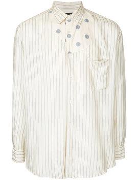 asymmetric-dots-pinstripe-shirt by comme-des-garçons-vintage