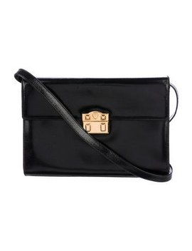 gucci-vintage-leather-flap-bag by gucci