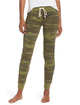 camo-print-fleece-jogger-pants by alternative