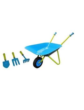 kids-wheel-barrel-and-garden-tool-set---blue---justforkids by justforkids