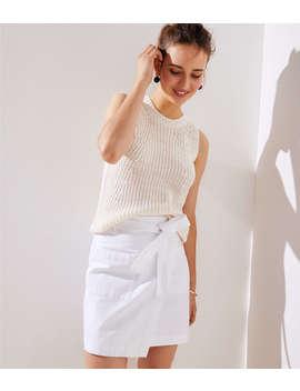 petite-pocket-wrap-skirt by loft