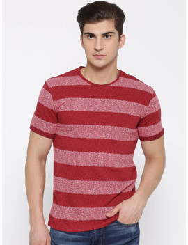 united-colors-of-benetton-men-red-striped-round-neck-t-shirt by united-colors-of-benetton