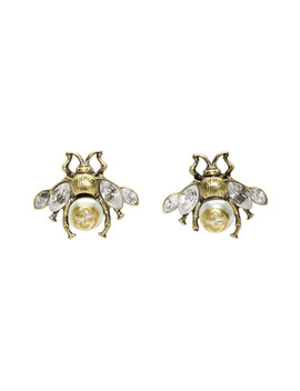 gold-bee-motif-earrings by gucci