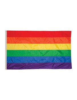 in-the-breeze-12-inch-by-18-inch-rainbow-flag---rainbow-grommet-flag-with-sewn-strips by in-the-breeze