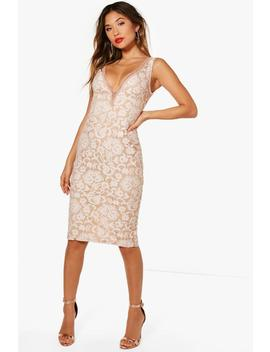 boutique-lace-off-the-shoulder-midi-dress by boohoo