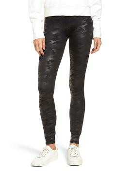 camo-faux-leather-leggings by spanx®