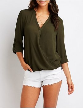 wrap-button-up-top by charlotte-russe
