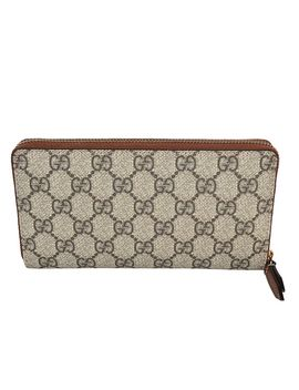 gucci-supreme-zip-around-wallet by gucci