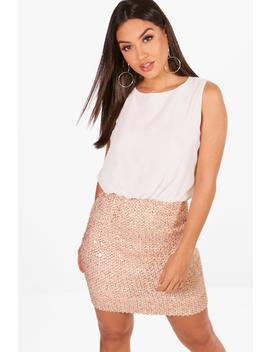 boutique-chiffon-top-bodycon-dress by boohoo