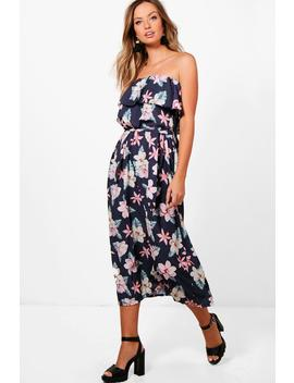 dark-floral-woven-maxi-dress by boohoo