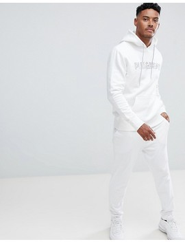pull&bear-hoodie-in-white-with-logo by pull&bear