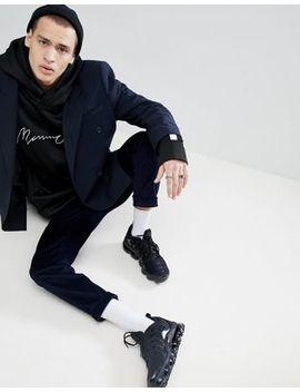 mennace-logo-hoodie-with-taping-in-black by mennace