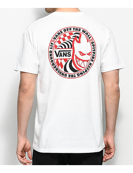vans-x-spitfire-white-t-shirt by vans