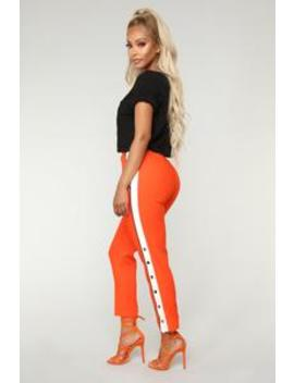 ginger-snap-pants---orange by fashion-nova