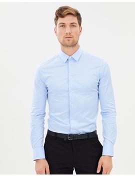 slim-fit-plain-poplin-shirt by emporio-armani