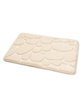 wilko-memory-foam-bath-mat-pebble-cream by wilko