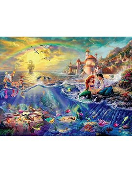 ceaco-thomas-kinkade-the-disney-dreams-collection-the-little-mermaid-750-pc-jigsaw-puzzle by ceaco