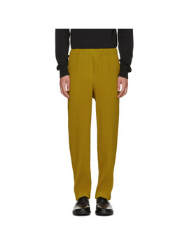 yellow-tailored-pleats-trousers by homme-plissÉ-issey-miyake