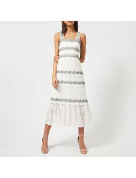 foxiedox-womens-frances-midi-dress---off-white by the-hut