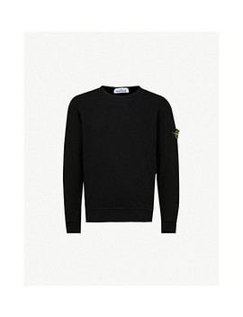 logo-patch-embroidered-cotton-jersey-sweater by stone-island