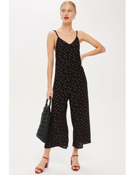 polka-spot-slouch-jumpsuit by topshop