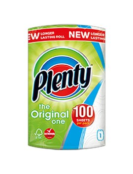 plenty-white-kitchen-roll-100-sheets by wilko