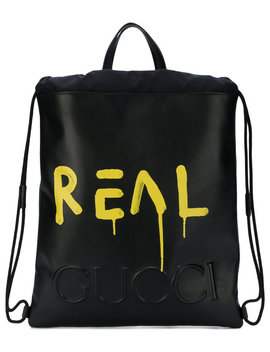 guccighost-drawstring-backpack by gucci