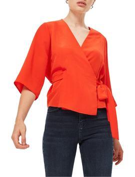 kimono-wrap-blouse by topshop