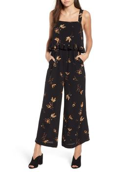 ruffled-floral-print-jumpsuit by bp