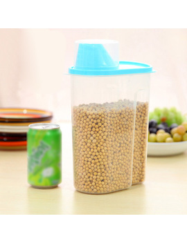 25l--storage-plastic-kitchen-food-pasta-cereal-grain-bean-rice-storage-container-box-pink_green_-blue_yellow by sibaolu