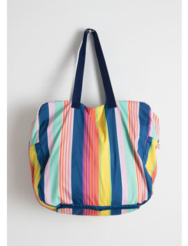 striped-duffle-tote-bag by &-other-stories