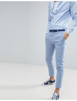 river-island-wedding-linen-suit-pants-in-light-blue by river-island