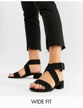 asos-design-federal-wide-fit-flat-sandals by asos-design