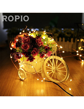 ropio-2m-3m-led-strings-copper-wire-cr2032-battery-operated-fairy-silver-lights-for-christmas-garland-party-wedding-decoration by ropio