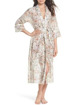 yolly-floral-cotton-&-silk-robe by papinelle