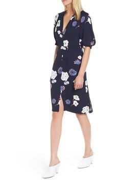 floral-v-neck-dress by lewit