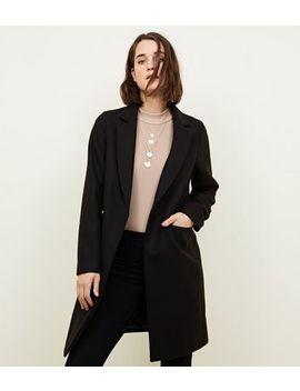 manteau-noir-habillé-à-coupe-droite by new-look