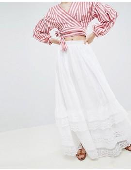 asos-design-prairie-maxi-skirt-with-lace-hem by asos-design
