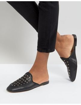 depp-studded-leather-flat-mule-shoe by shoes