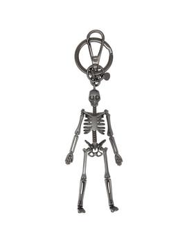 gunmetal-skeleton-keychain by alexander-mcqueen