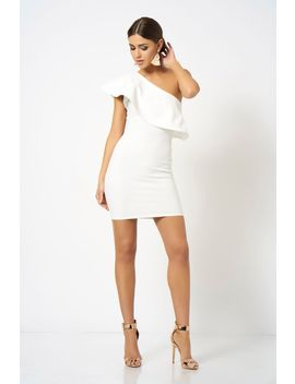 **one-shoulder-frill-detailed-mini-bodycon-dress-by-club-l-london by topshop
