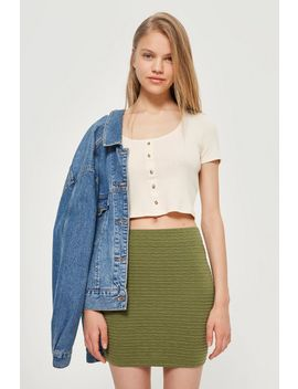 textured-pull-on-skirt by topshop