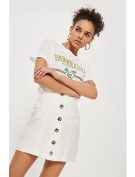 button-through-mini-skirt by topshop