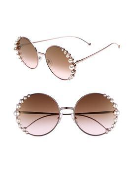 58mm-embellished-round-sunglasses by fendi