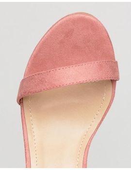 raid-wide-fit-frances-pink-suede-mid-block-heeled-sandals by raid
