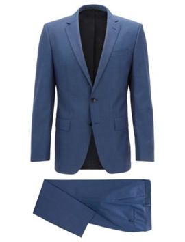 costume-slim-fit-en-laine-vierge-performance-stretch by boss