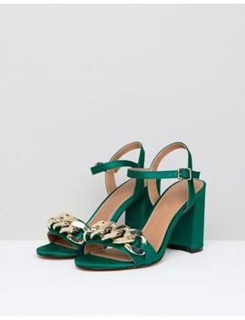 asos-design-hawk-chain-block-heeled-sandals by asos-design