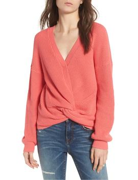 twist-front-sweater by bp