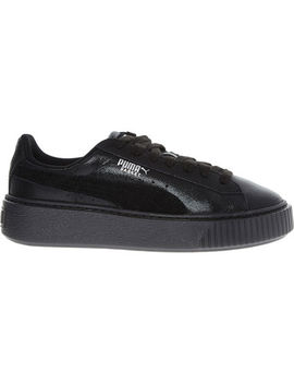 black-basket-platform-trainers by puma